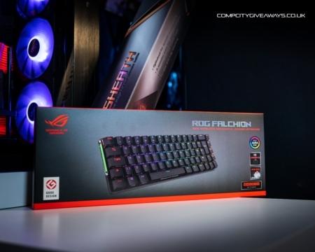 ASUS ROG Falchion 65% Wireless Keyboard + XL Sheath Mouse pad