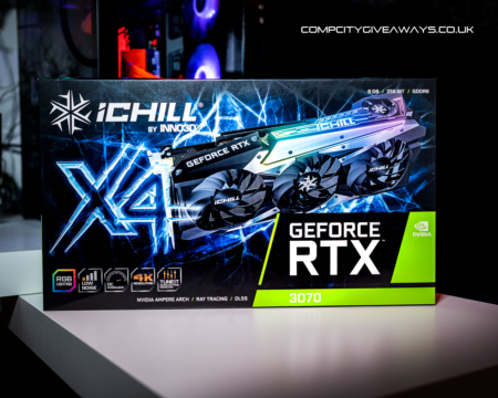 Win this amazing INNO3D RTX 3070 ICHILL X4! 8GB Ampere Graphics Card IN STOCK!