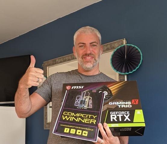 Mike Hannigan RTX 3070 Winner