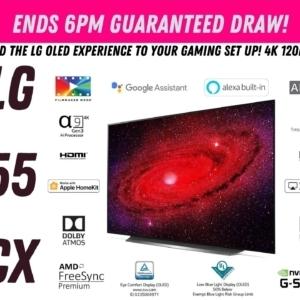 "LG CX 55"" 4K OLED TV"